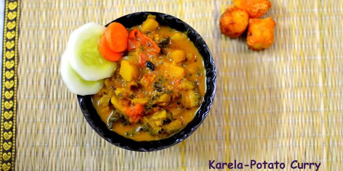 Ram navami special karela potato curry she knows grub food ram navami special karela potato curry food recipe forumfinder Images