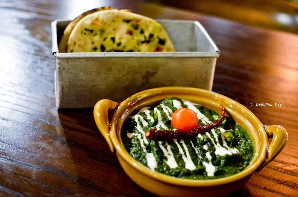 Palak Paneer and Basil Breads