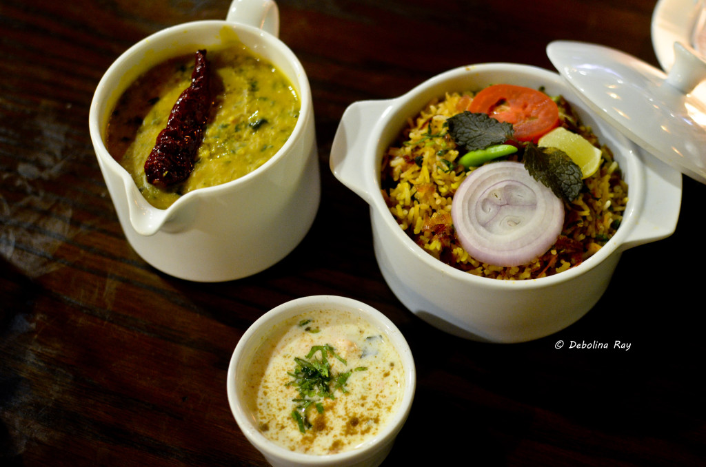 Biryani and Dal Tadka