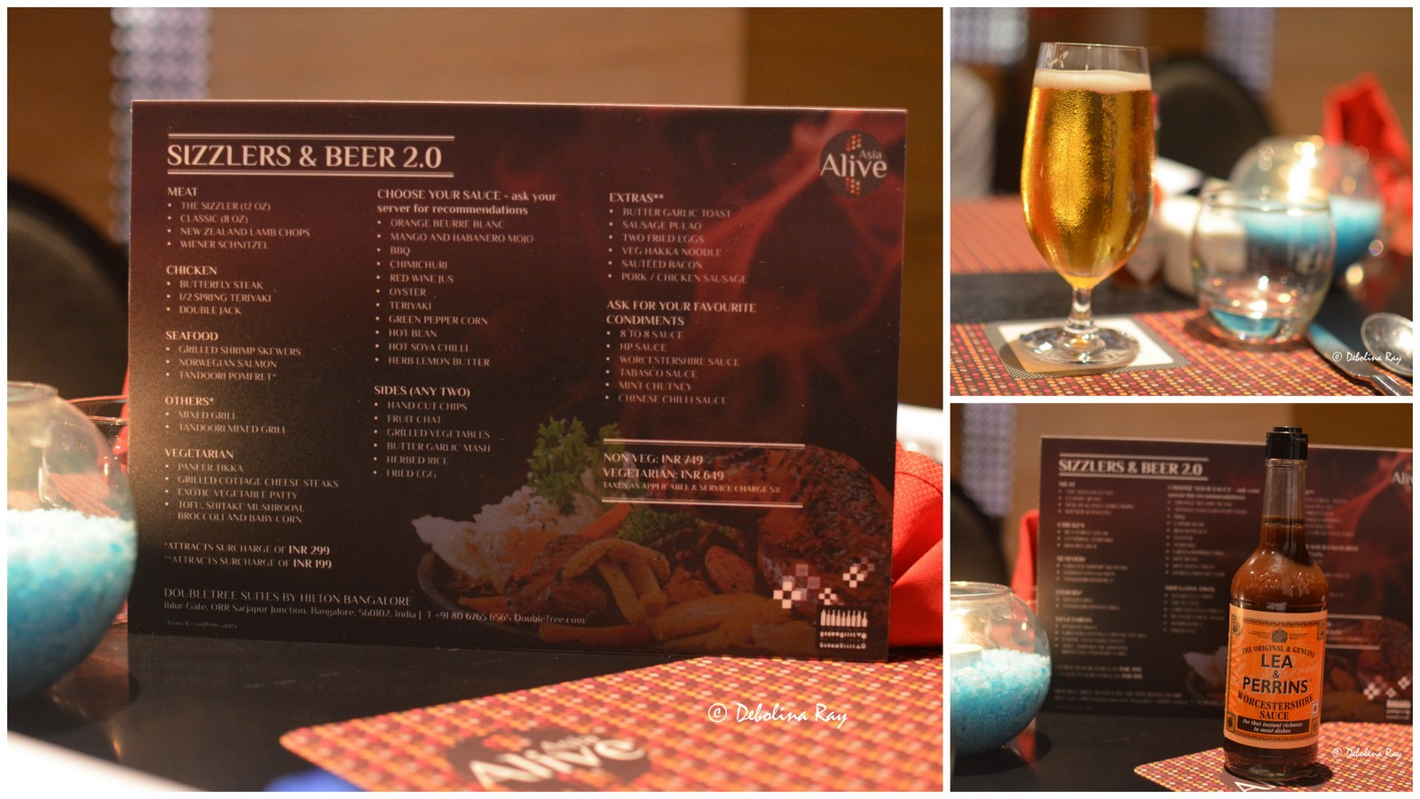 Sizzlers & Beer - Equinox, Double Tree - She Knows Grub - Food & Travel
